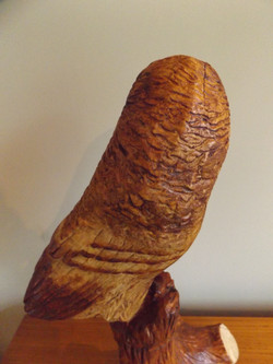 Hand carved owl by Moon Rabbit Craftworks