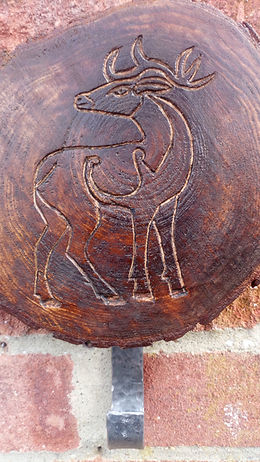 Pictish stag coat hook by Moon Rabbit Craftworks