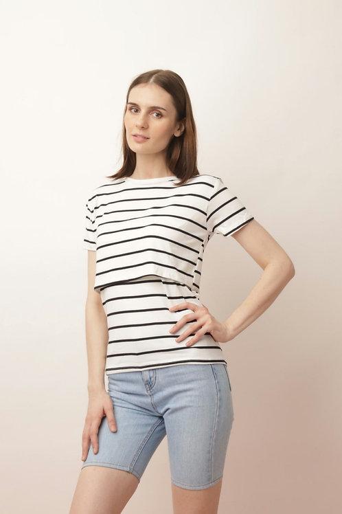 Striped Breastfeeding Shirt