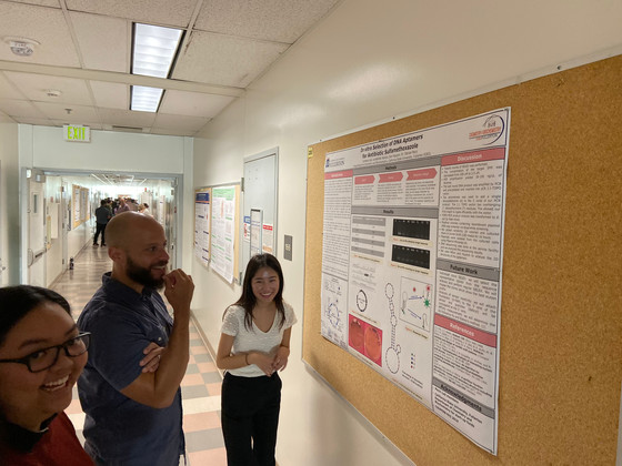 Four Students Presented Their Posters at UR Poster Event