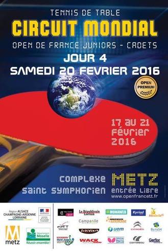 OPEN DE FRANCE 2016 - METZ - U15 FILLES