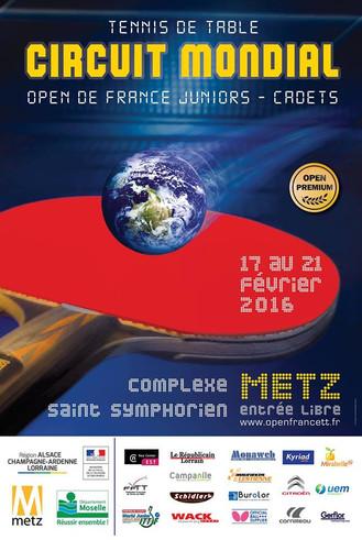 OPEN DE FRANCE 2016 - METZ - U18 GARCONS