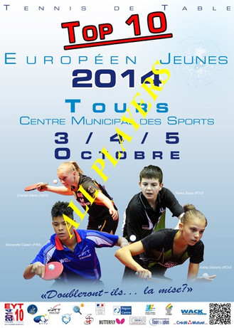 ALL PLAYERS - EUROPEAN TOP TEN - 2014 - TOURS (France)
