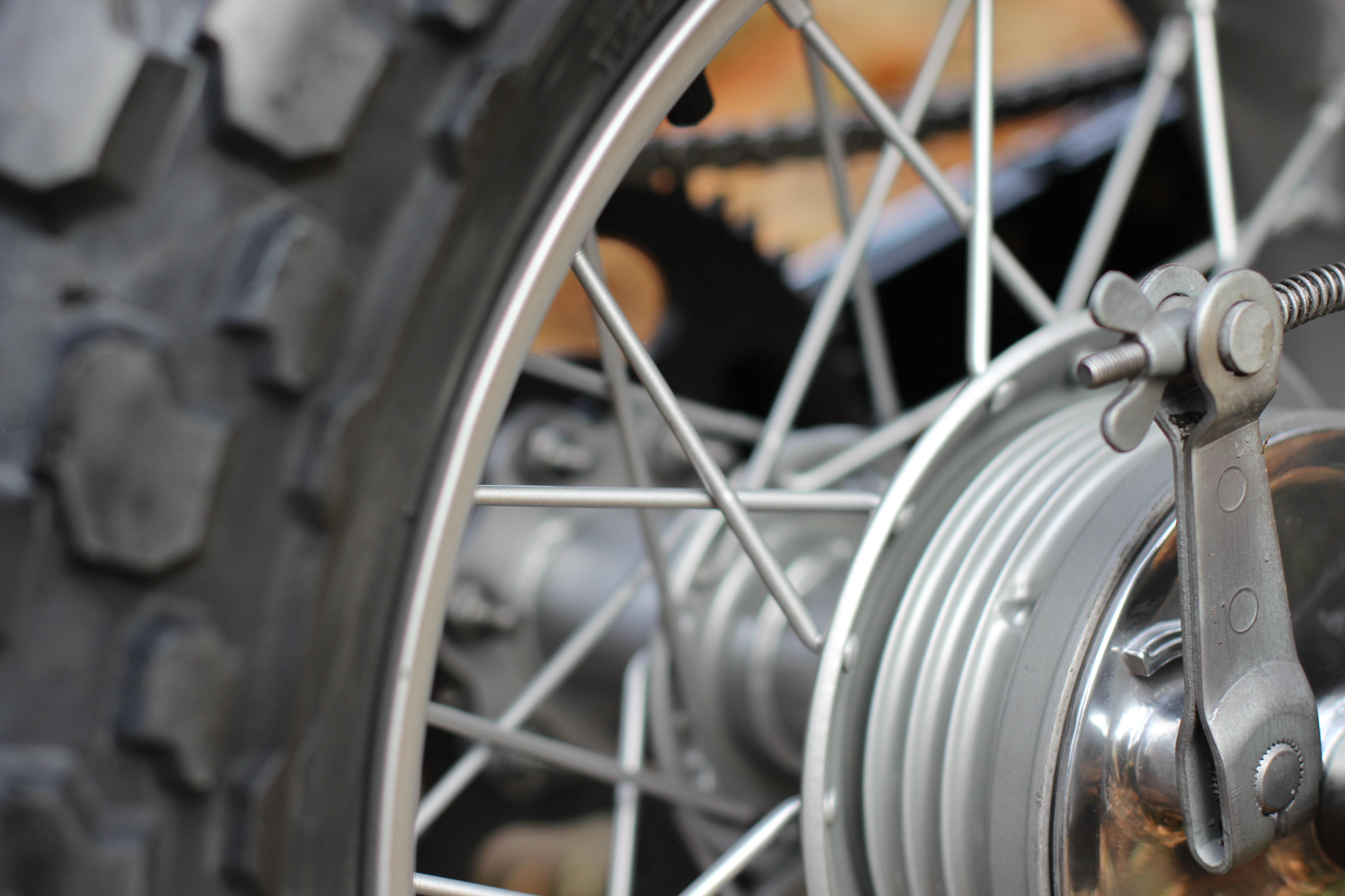 Red TU125 front wheel