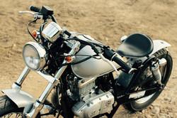 'Silver' Suzuki GZ125 bobber