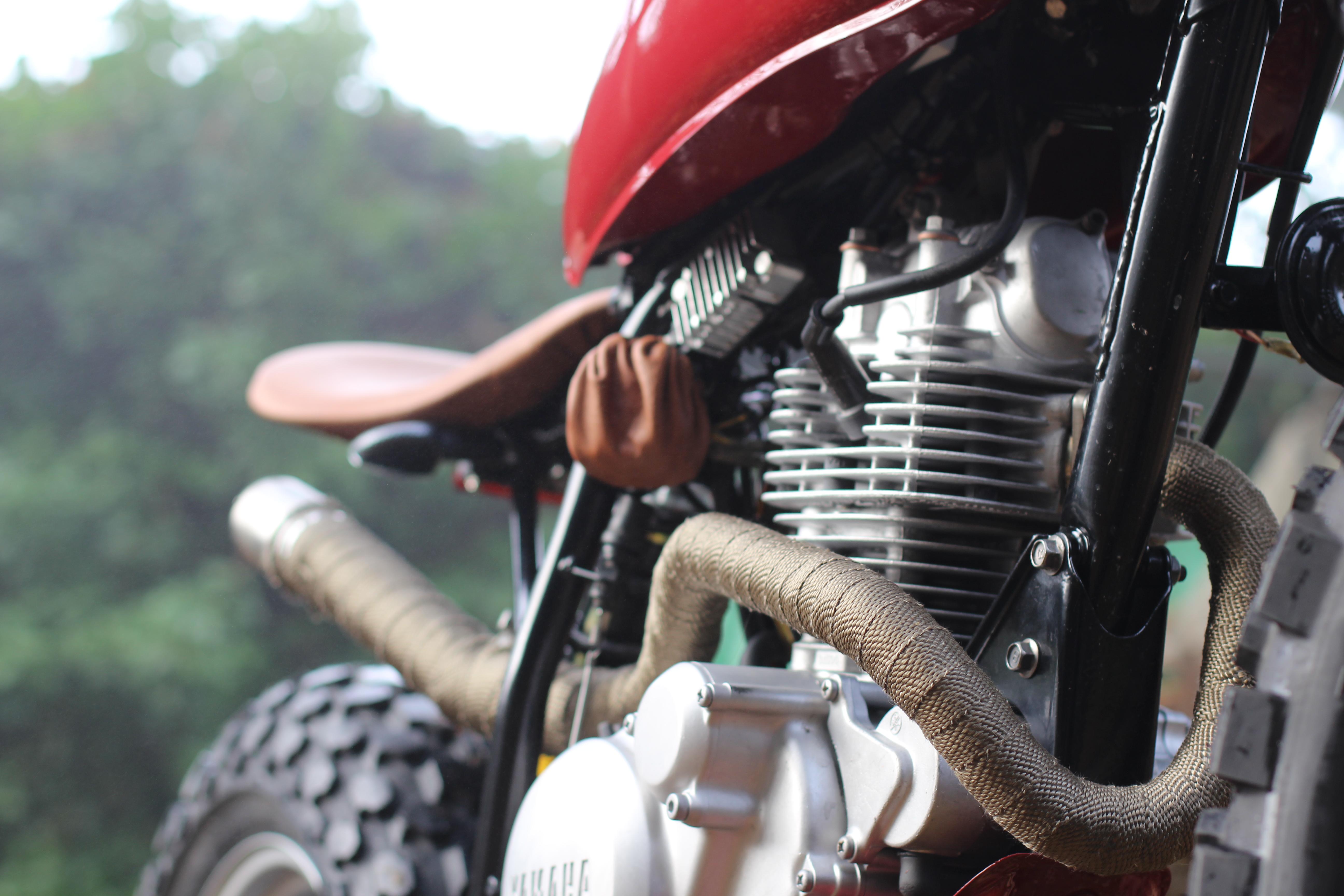 Red TU125 engine
