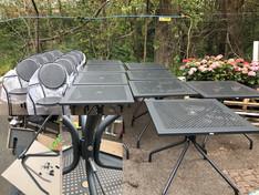 Exterior Garden Metal Tables & Chairs
