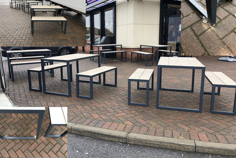 Metal Tables & Bench Seats