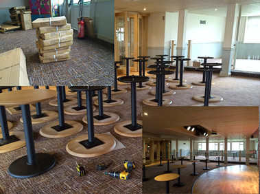 Installations of tables