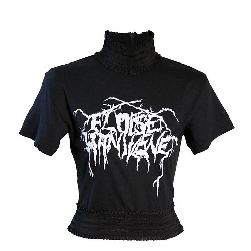 Black Metal High-Neckd Top