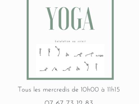 Cet été, cours de Yoga en plein air !