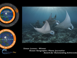 Simon Lorenz wins Ocean Geographic Photo Journalist Award for Oustanding Achievement