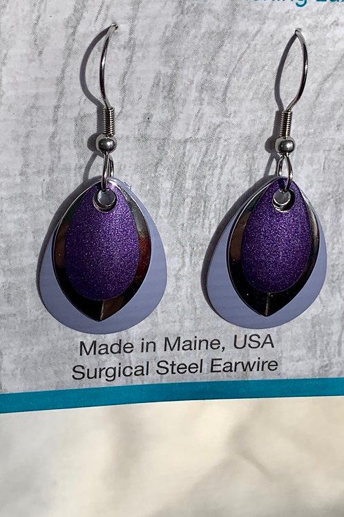 Shimmering Purple - Earrings - Eye Catching Jewelry