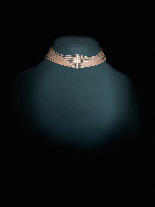 Vintage Goldtone Choker-style Necklace