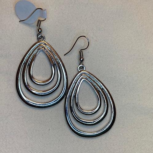 Sterling Triple Teardrop Earrings