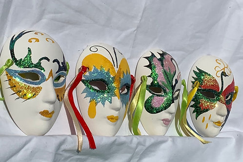 Mardi Gras Masks - set of 4