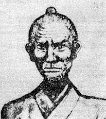 MatsumuraSokon (1809-1899), een van de leraren van Anko Itosu.