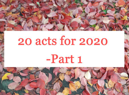 20 for 2020 - Part 1
