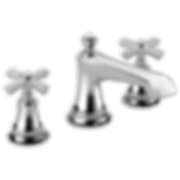 Brizo 65360LF-NKBLLHP Rook Widespread Bathroom Faucet with Pop-Up Drain Assembly - Includes Lifetime Warranty - Less Handles