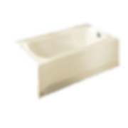 "American Standard 2461.002.021 Cambridge 60"" Americast Soaking Bathtub for Alcove Installations with Right Hand Drain"