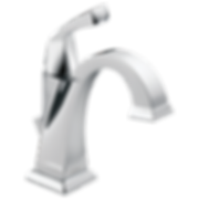 Delta 551-DST Dryden Single Hole Bathroom Faucet with Diamond Seal Technology - Includes Pop-Up Drain Assembly