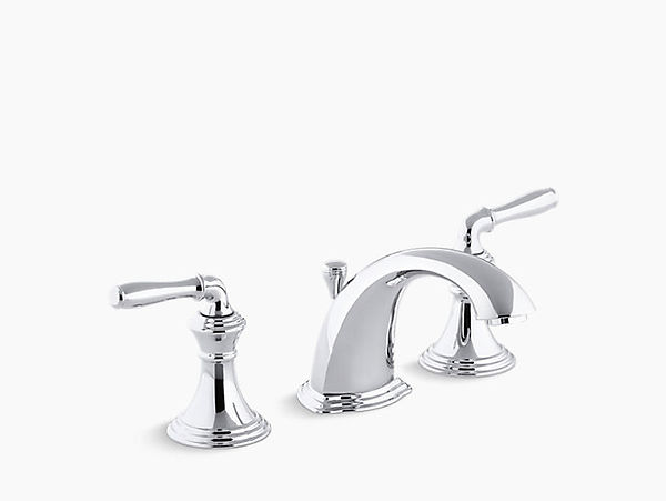 Kohler K-394-4-BV Devonshire Widespread Bathroom Faucet with UltraGlide Valve and Quick Mount Technology - Free Metal Pop-Up Drain Assembly with Purchase