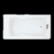 "American Standard 7236.V002.011 Evolution 72"" Acrylic Soaking Bathtub with Reversible Drain"