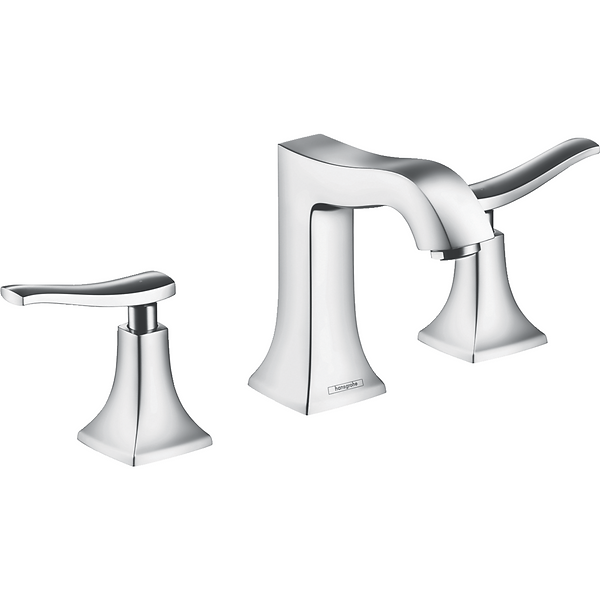 Hansgrohe 31073001 Metris C 1.2 GPM Widespread Bathroom Faucet with EcoRight, Quick Clean, and ComfortZone Technologies - Drain Assembly Included