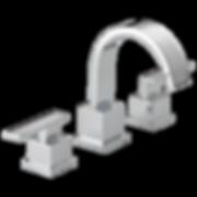 Delta 3553LF Vero Widespread Bathroom Faucet with Pop-Up Drain Assembly - Includes Lifetime Warranty