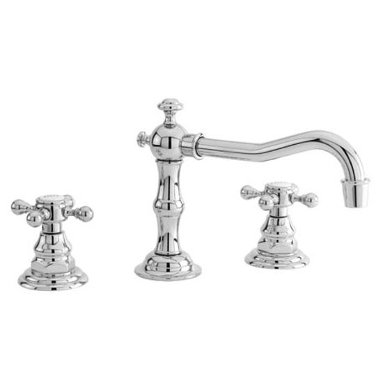 Newport Brass 930/56 Chesterfield Double Handle Widespread Lavatory Faucet with Metal Cross Handles