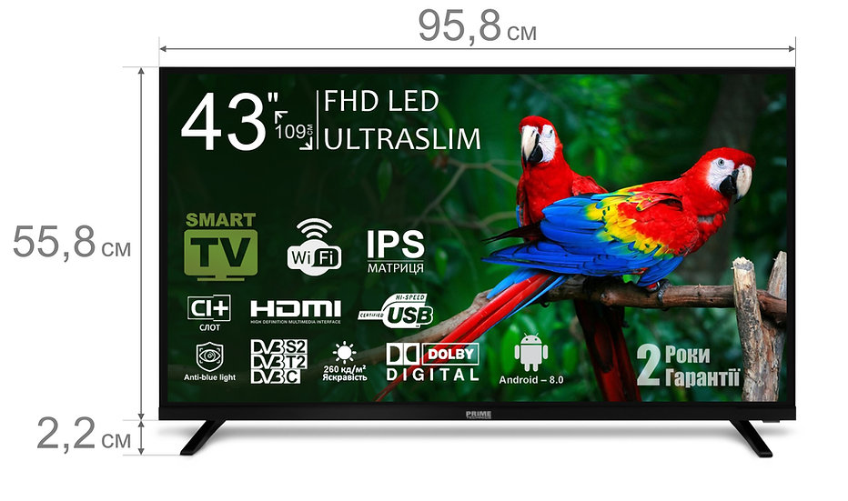 Телевізор PT 43F10S8FR