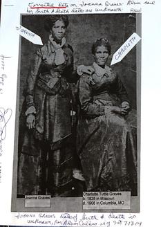 Joanna Graves (left)