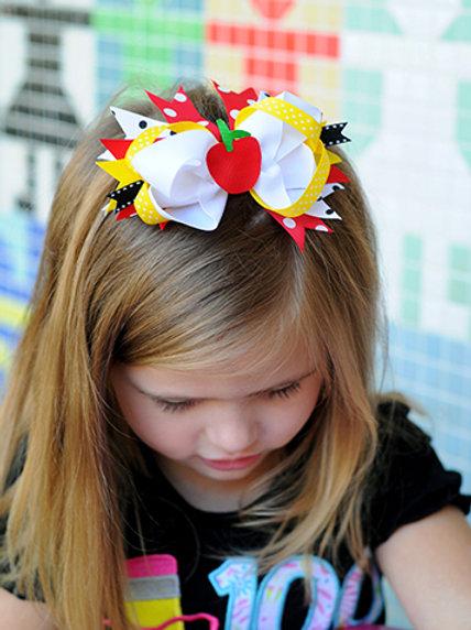 Apple Hair Bow