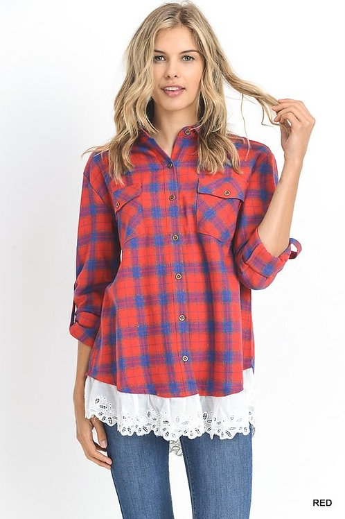 Casual Yet Sweet Plaid Shirt