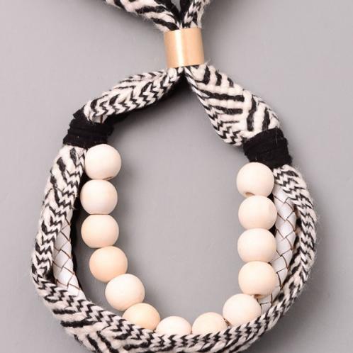 Black & Ivory Adjustable Bracelet