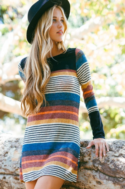 Yes for you multi-stripe dress