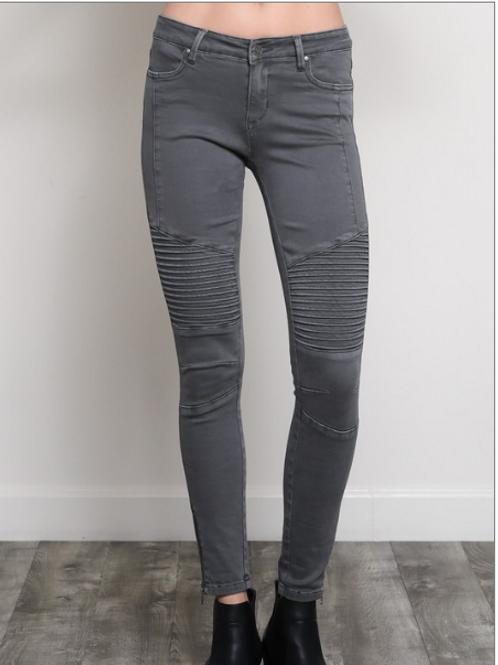 Charcoal moto skinny jeans