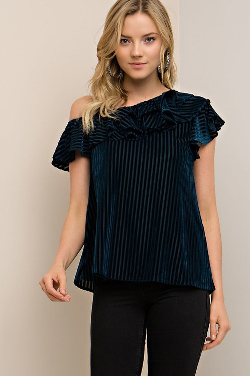 Fancy Up Velvet Top