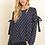 Thumbnail: Chevron bow knot blouse