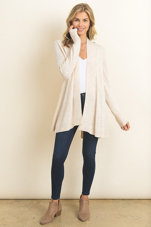 Find your leisure rib cardigan