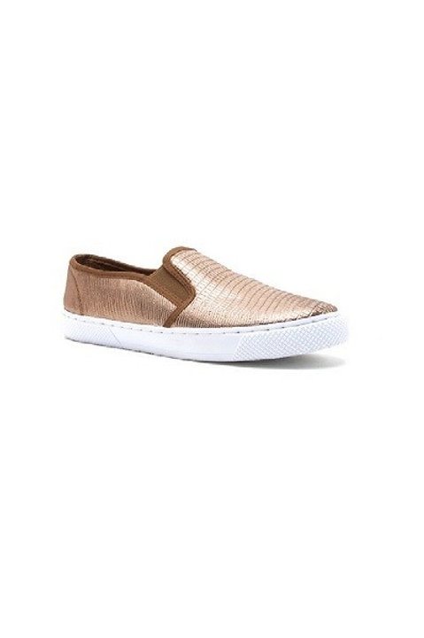 Rose GOLD Slip-On Sneakers