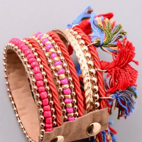 Red Multiwoven Bracelet