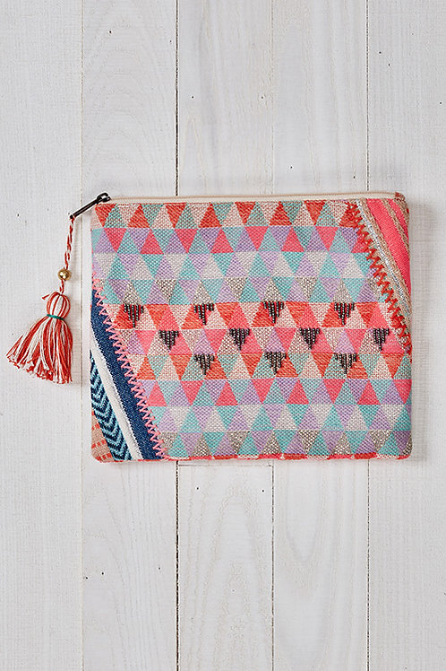 Mini Geo Pattern Makeup Pouch