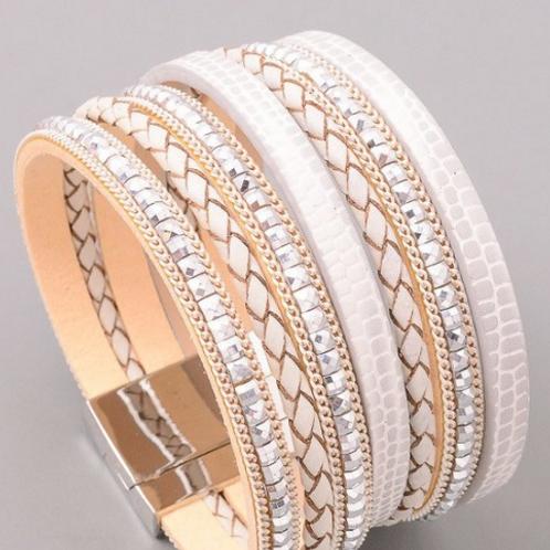 White Multiwoven Bracelet
