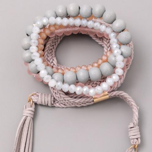Grey Wrap Bracelet
