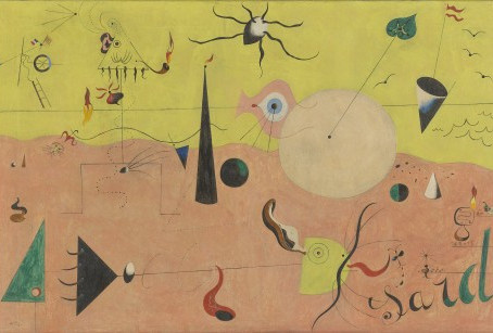 Joan Miro's The Hunter (Catalan Landscape) in the Newly Renovated MoMa