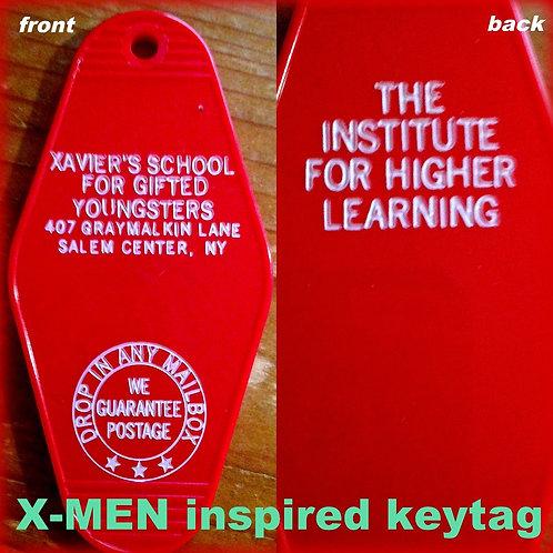 """X-MEN ""Xavier's School For Gifted Keytag"
