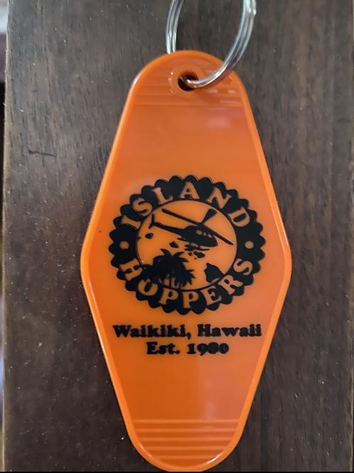 Magnum PI inspired island hopper's keytag