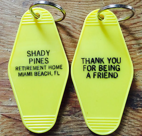 Golden Girls Inspired Keytag (Teal or Yellow or Black)