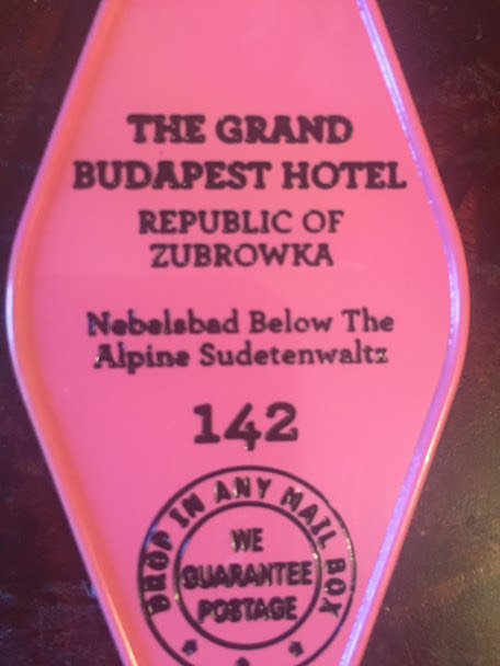 The Grand Budapest Hotel Inspired Keytag IN PINK
